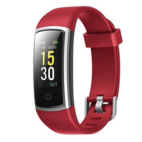 LATEC Pulsera Actividad, Fitness Tracker IP68 Impermeable Monitor de Frecuencia Cardiaca 14 Modos Reloj Inteligente Mujer Hombre Pulsera Deportiva Reloj para Xiaomi Samsung Huawei Android iPhone iOS