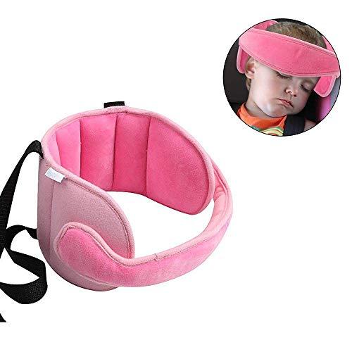 MGDAM Kopf- und Nackenstützgurt für Babyautositze - Nackensicherheit und Sicherheitsschlaflokalisierung einstellbar (Pink)