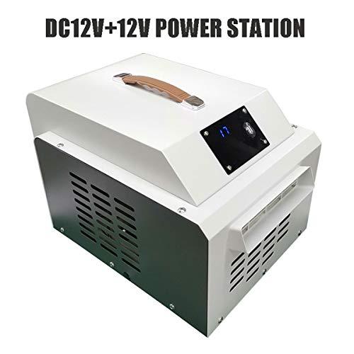 12V / 24V klimaanlage for Für Auto,Portable DC Standklimaanlage Leise Fast Cooling Tragbare Mobile klimageräte Für Familie Urlaub Reisen im Freien Wohnung (Size : DC12V+POWER STATION)