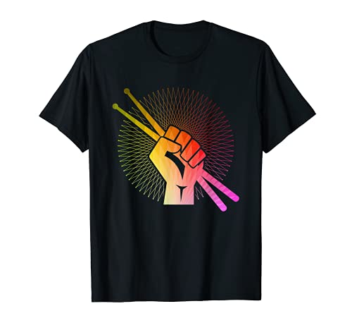 Drummer Drumsticks Faust Schlagzeug Geschenk T-Shirt