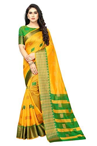 satyam weaves women's ethnic wear jacquard banarasi cotton silk saree. (Paakhi)