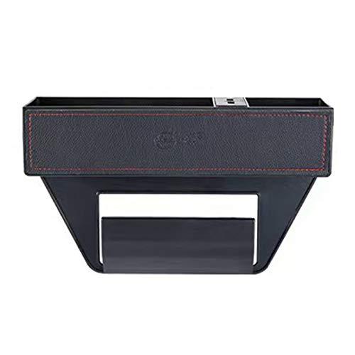 ALTcompluser Eternitymei - Organizador para asiento de coche, bolsillo lateral con funda de piel sintética, organizador para guardar el asiento delantero para cartera, taza, teléfono (USB)