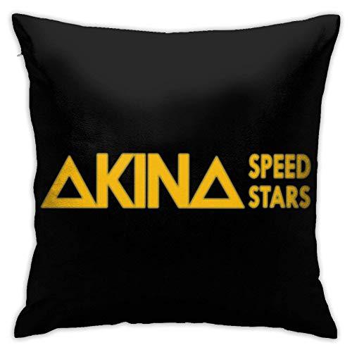 WH-CLA Fundas De Almohada De Tiro Initial D Akina Speed Stars Logo Office Fundas De Cojín De Anime 45X45Cm Fundas De Respaldo De Sofá Fundas De Cojín De Coche Interior Único Y Duradero
