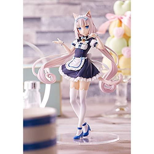 ylyyjh Modello Anime lamiglia al Cioccolato Nekopara PVC Cartoon Gioco Anime Statue di Carattere Statue Bambola Figura Toy Room Room Dono Decorativo Preferito da Anime Fan (Color : White)