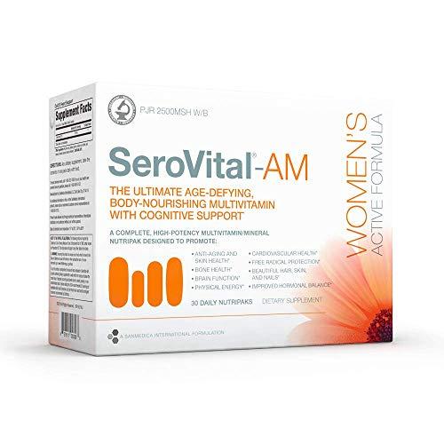 SeroVital Multivitamin Pack for Women - Hair Nails and Skin Vitamins for Women - Women Hormone Support Supplements - DHEA Supplement - Vitamins for Women - 30 Nutripacks