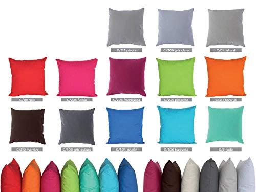 Reig Marti - Cojín con Relleno Tunera 50x50 cm - Color Gris Oscuro C400