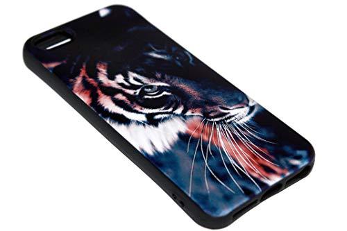 ADEL - Cover morbida in silicone TPU, compatibile con iPhone 5/5S/SE, motivo: tigre