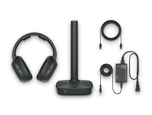 Sony WH-L600 Surround Funkkopfhörer (kabellos, für TV, Sport, Spiele u. Musik, Reichweite bis zu 30 Meter, Cinema Modus, bis zu 17 Stunden Akkulaufzeit) schwarz