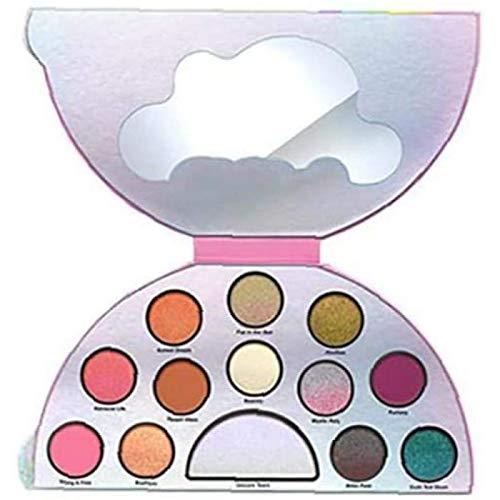 ZHANG Bandeja De Sombra De Ojos De 13 Colores Sombra De Ojos Brillante Unicornio Brillante Arcoíris Semicírculo Paleta De Sombra De Ojos Brillante Colores De Perlas Polvo
