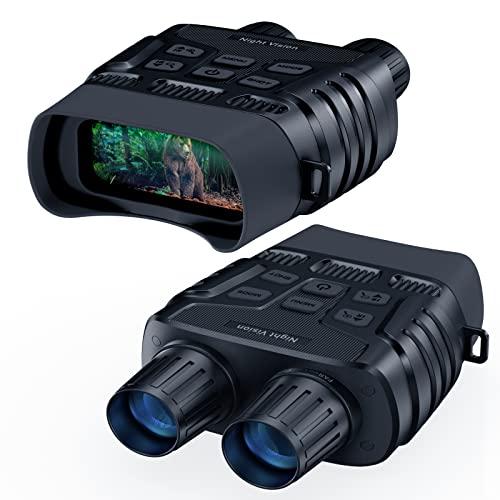 Nachtsichtgerät, Digital Infrarot Nachtsicht Fernglas Nehmen Sie HD-Fotos und Videos, 7-Stufige Infrarotbeleuchtung 4X Digitalzoom Digitales Nachtsichtbrille für Jagd, Vogelbeobachtung, Überwachung