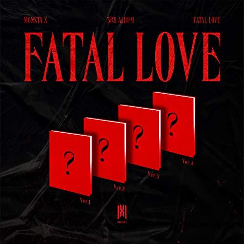 Starship Entertainment Monsta X Fatal Love 3e Album [Set (1,2,3,4)] (Incl. Voorbestelling voordelen: verborgen berichtenkaart, gevouwen Poster, Verkoper Gift : Random Monsta X Transparante Photocard Set)