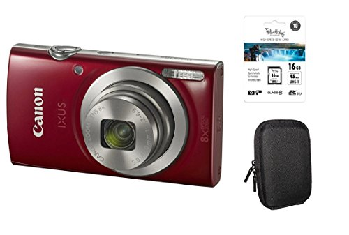 Canon Ixus 185 rot Kit + 16GB SDHC Speicherkarte + Tasche