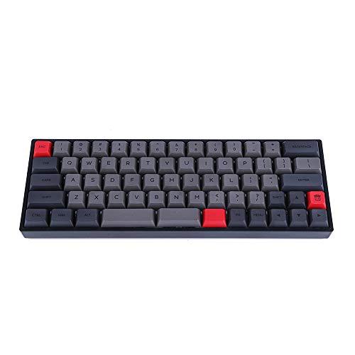 Epomaker SK66 60%キー有線(Bluetoothなし)Gateron軸が搭載されたゲーミングメカニカルキーボード RGBバックライトシステム PBT熱昇華プロセスを経ったのキーキャップ NKRO可能メカニカルキーボード (Gateron茶軸, グレー(ブラック))