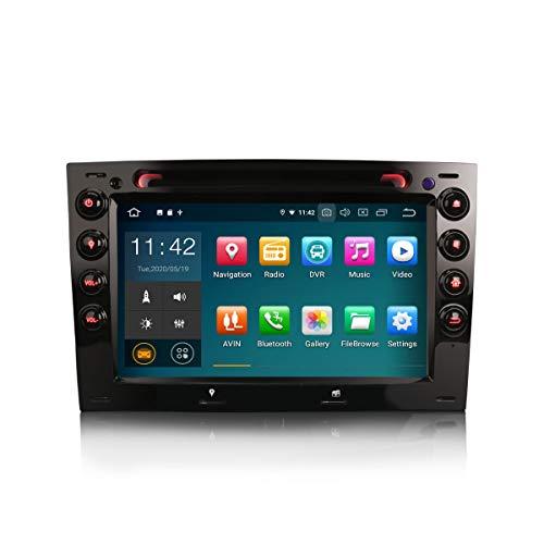ERISIN 7 Zoll Android 10.0 Autoradio für Renault Megane Multimedia Player mit GPS-Navi Unterstützt Carplay Android Auto Bluetooth A2DP WiFi 4G DAB + RDS Mirror- Link TPMS GB RAM + 16GB ROM