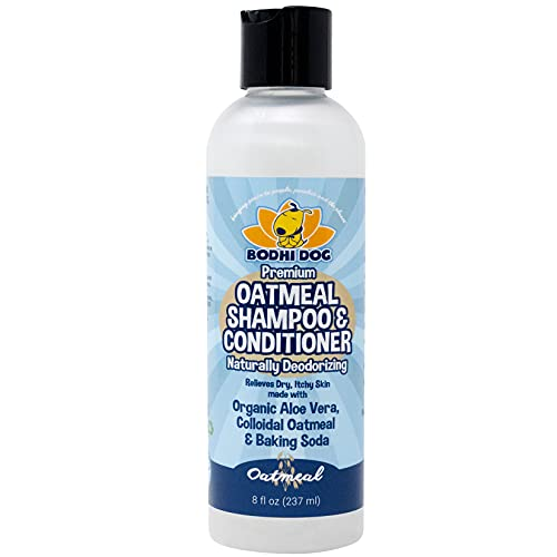 Organic All Natural Oatmeal Dog Shampoo and Conditioner | Conditioning Formula for Dogs Cats & Pets | Treatment Wash Soothes Dry Itchy Skin | Aloe for Allergy Relief