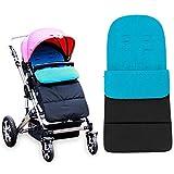 Anntry Footmuff, bolsa de dormir para bebé, universal, para niños pequeños con cochecito, cochecito anexo. Estera para pies. (Azul)