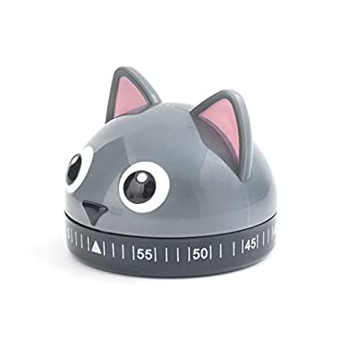 Kikkerland Kitchen Timer, Cat, Multicolor
