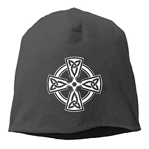 VTXINS Keltische kruis knoop Ierse Shield Warrior Unisex schedel Cap Toboggan gebreide hoed warme hoed. Grappige Beanie Caps