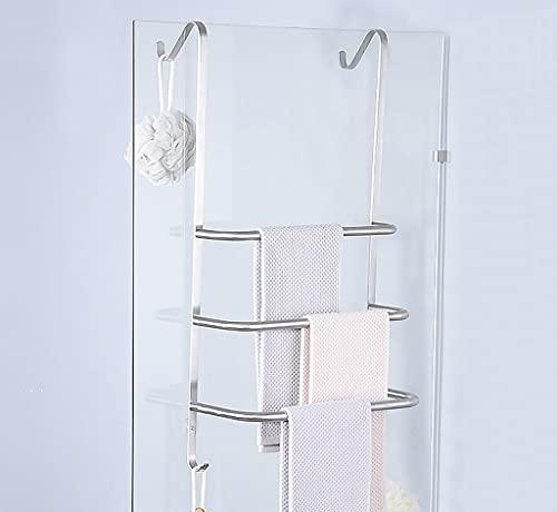 CongMing-huajia Handtuchaufbewahrung 304 Edelstahl Wandmontage Handtuchstange Duschregal Dreischicht Handtuchstange Modern Aufhängehaken Einfach zu installieren A