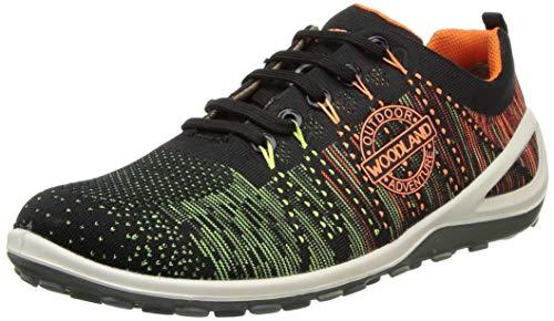 Woodland Men's Black/Orange Sneaker-8 UK (42 EU) (GC 2994118)