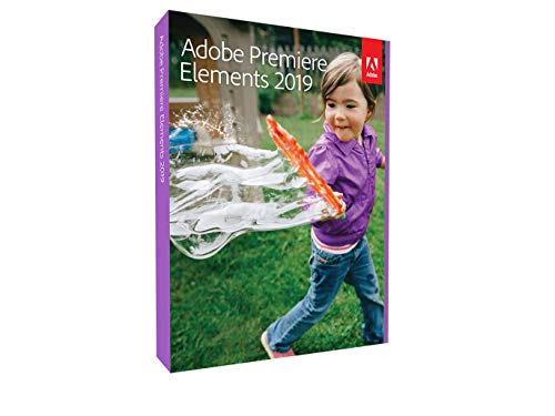 Adobe Premiere Elements 2019|Vollversion|1 Gerät|unbegrenzt|PC/Mac|Disc|Disc
