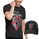 Camisetas y Tops Hombre Polos y Camisas White Lion Rock Band T Shirt Men Cotton Short Sleeve Tees and Baseball Hat Cap Combo Set Funny Tops Tees