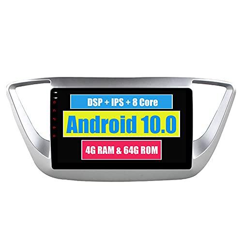 RoverOne 9 Pouces Système Android Octa Core pour Hyundai Verna Solaris 2017 2018 de Voiture Lecteur multimédia avec Radio Navigation GPS Autoradio stéréo Bluetooth Mirror Link écran Tactile