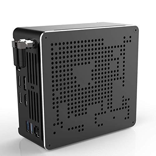 Mini PC para Juegos, Intel Core i9 9880H UHD Graphics 630 Mini computadora de Escritorio, Windows 10 Pro de 64 bits, DDR4 32GB RAM / 512GB M.2 SSD, Gigabit Ethernet, HDMI 2.0+ DP, TPC, WiFi/BT 4.2