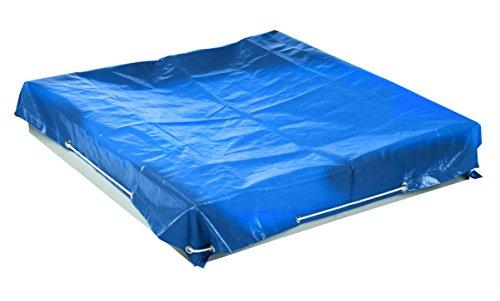 roba 455912BL roba Abdeckplane für Sandkästen klein, 125 x 125 cm, wetterfest und wasserabweisend, Metallösen zur Befestigung, blau