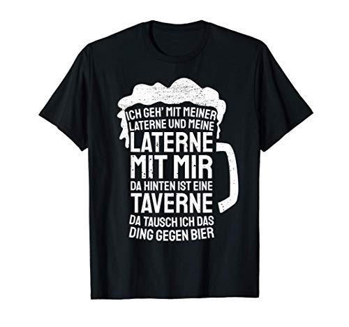 Lustiges Biertrinker Geschenk Laterne St Martin Bier T-Shirt