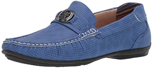 STACY ADAMS Men's CYD Slip-On Driver Loafer Driving Style, Azure, 7.5 M US