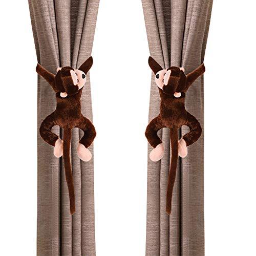 ITODA - 1 par de alzapaños de cortina, diseño de mono