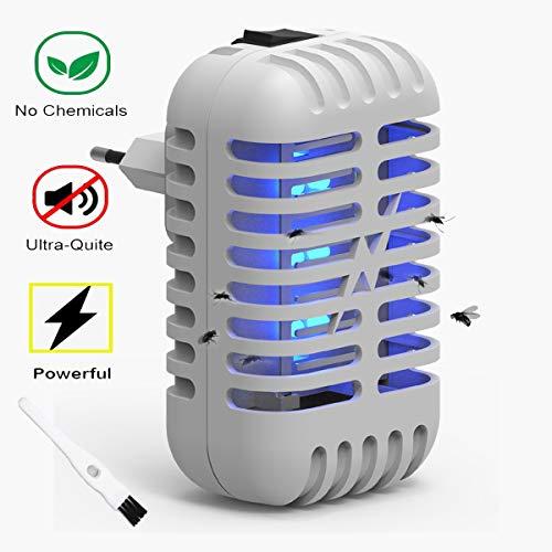 Binen Bug Zapper Plug-in Elektrischer Mückenvernichter Steckdose,2020 Neuer Fly Zapper mit UV-Licht LED Insektenfalle Mückenlampe Schutz vor Elektrischem Schlag Tragbare Mückenfalle Fliegen Für Innen
