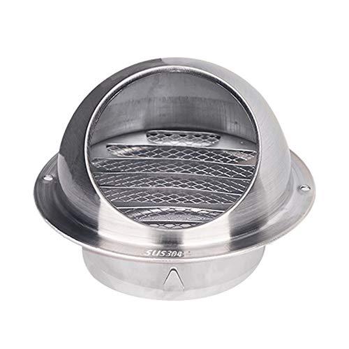 WEJUANR Ventilación de Pared Redondo Ventilación de ventilación Rejilla, 304 Cubierta de ventilación de Acero Inoxidable Redondo Ventilaciones de Aire para Cocina y baño (Size : 60mm)