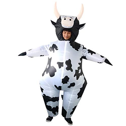 Sharplace Kuh Aufblasbares Kostüm Erwachsene Kostüm Fatsuit Fett Anzug für Party Cosplay Fasching und Karneval