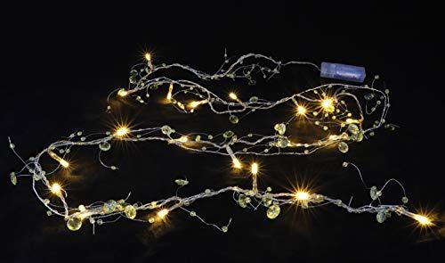 Christmas Concepts 2.7M Le Tilleul la Guirlande de Perle Verte avec 50 Lumières Claires (L102)