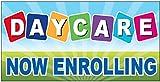 4Less Daycare Now Enrolling Vinyl Banner Sign...
