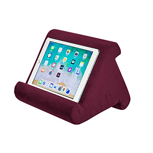 ETbotu Laptop Computer Stands Soft Pillow Pad Reading Bracket for iPad Phone Support wine red