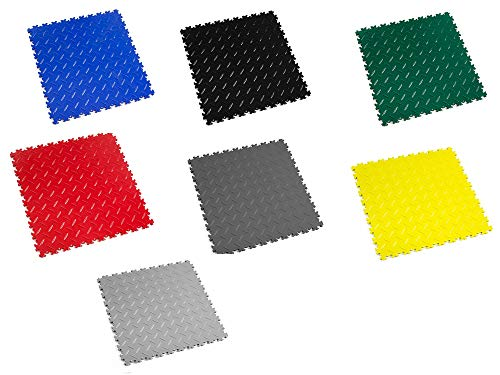 Fortelock PVC-Vinyl Bodenfliese Easyclick Diamant Hohe Belastbarkeit 2010 (Graphit)