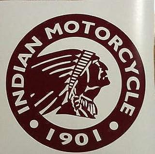 Supersticki Indian Motorcycle Plakette Ca 20cm Motorrad Aufkleber Bike Auto Racing Tuning Aus Hochleistungsfolie Aufkleber Autoaufkleber Tuningaufkleber Hochleistungsfolie Für Alle Glatten Auto