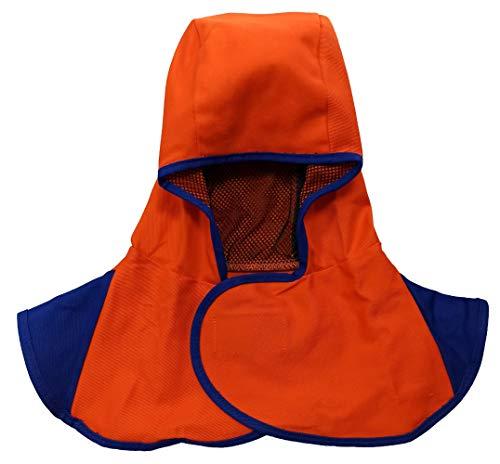 ELCAN Capucha ignífuga soldador transpirable para colocar debajo de careta soldadura para evitar quemaduras, gorro de soldador con protección para el cuello