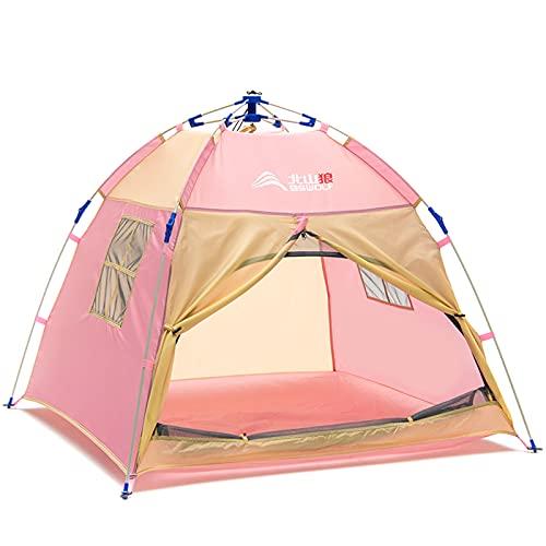 Tienda Campaña Infantil, Carpa Infantil con Bolsa de Transporte, para Interior y Exterior, Tienda para Niños, Interior-Exterior, 120 x 120 x 100 cm, Rosa,Pink
