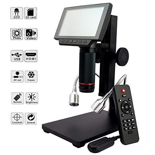 Control Remoto Microscopio Digital Microscopio USB Pantalla Digital De 5'Microscopio Electrónico HD Lupa 8 Microscopio Con Cámara De Luz LED