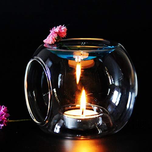 Glass Essential Oil Aroma Burner Tealight Candle Holder Wax Melt Essential Oil Burner Home Decorations Home Bedroom Decor Decor Yoga Spa Wedding Birthday Gift