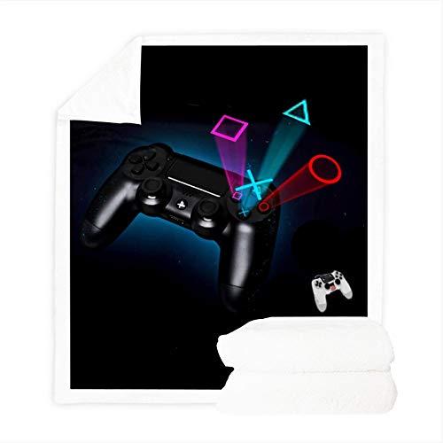 Fgolphd ps4 Playstation Kuscheldecke, Dünne Decken Für Sofa,ultraweich Und Warm 100% Mikrofaser 3D-Druck, Fleecedecken for Erwachsene Kinder Weich Und Warm (150 x 200 cm,2)