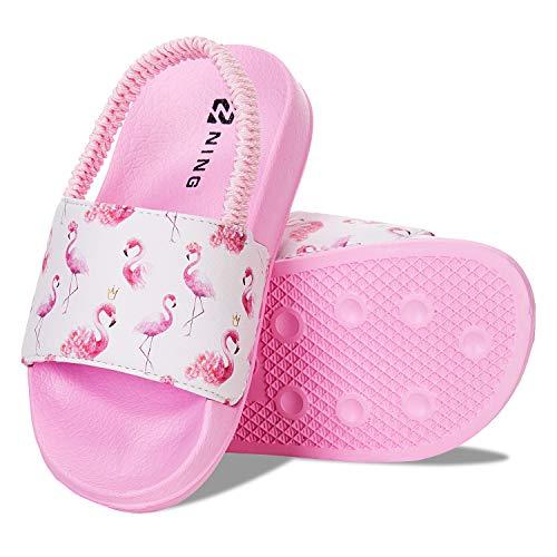 Sandalias Niños Chanclas,Zapatos de Ducha Niño Zapatos de Playa(24/25EU Unicornio-Azul)