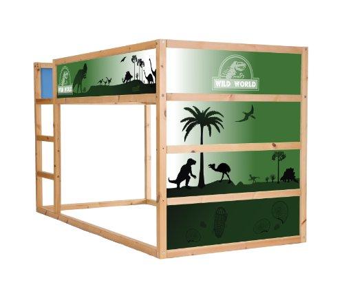 STIKKIPIX Dinosaurier Möbelfolie/Aufkleber für das Hochbett KURA von IKEA - IM01 - Möbel Nicht Inklusive