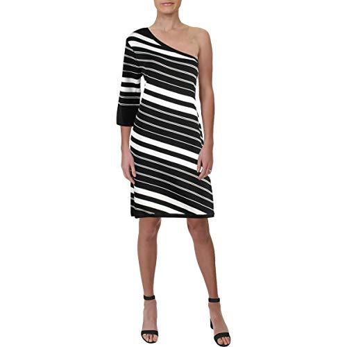 Anne Klein - Vestito da donna a una spalla - nero - XX-Small