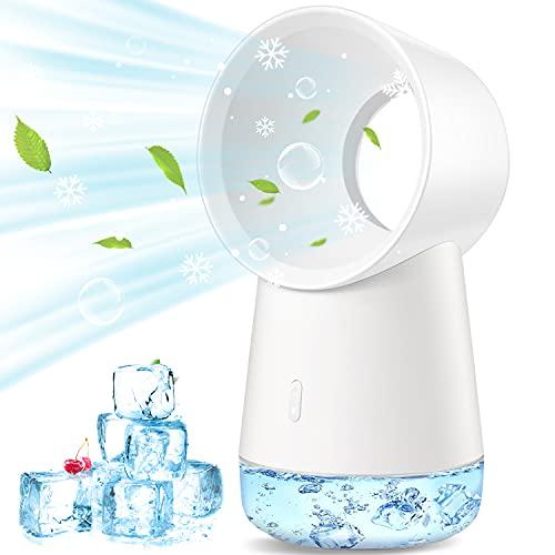 Tragbarer Luftkühler, USB Mini Mobile Klimageräte Persönlicher Luftkühler, Luftbefeuchter, Ventilator 3 Lüftergeschwindigkeiten Luftkühler Schreibtischlüfterkühlung für Home Office Schlafzimmer