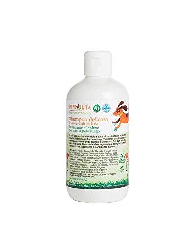 LA SAPONARIA - Shampooing délicat pour les chiens à poils longs - Démêlant - Donne force, éclat et douceur - Vegan - 250 ml